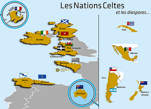 Carte des nations celtes